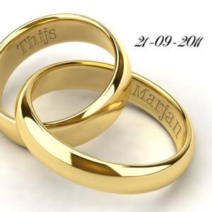 25 jaar getrouwd ringen Gouden ringen wenskaart   25jaargetrouwd.net 25 jaar getrouwd ringen